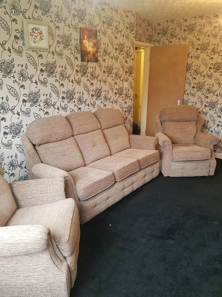 G Plan Wilton 3 Piece Suite Sofa Settee – Used But In An Within Recent Wilton Fabric Sectional Sofas (View 10 of 25)