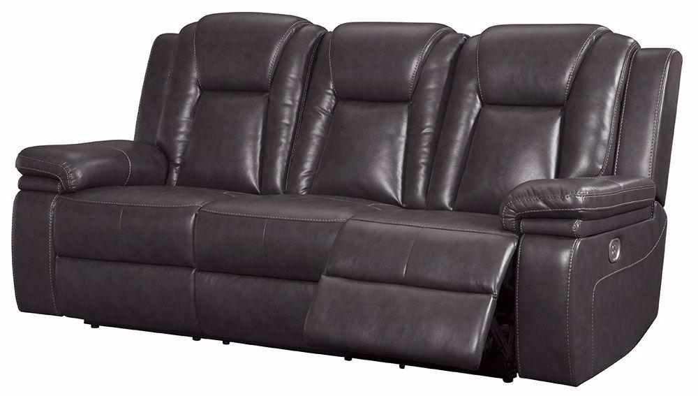 Garristown Gray Brown Power Reclining Sofa (View 9 of 15)