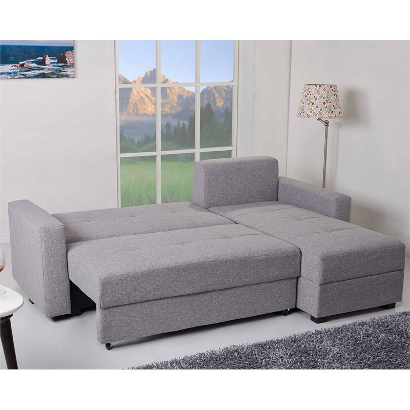 Gold Sparrow Aspen Convertible Sectional Storage Sofa Bed With Newest Celine Sectional Futon Sofas With Storage Reclining Couch (View 16 of 25)