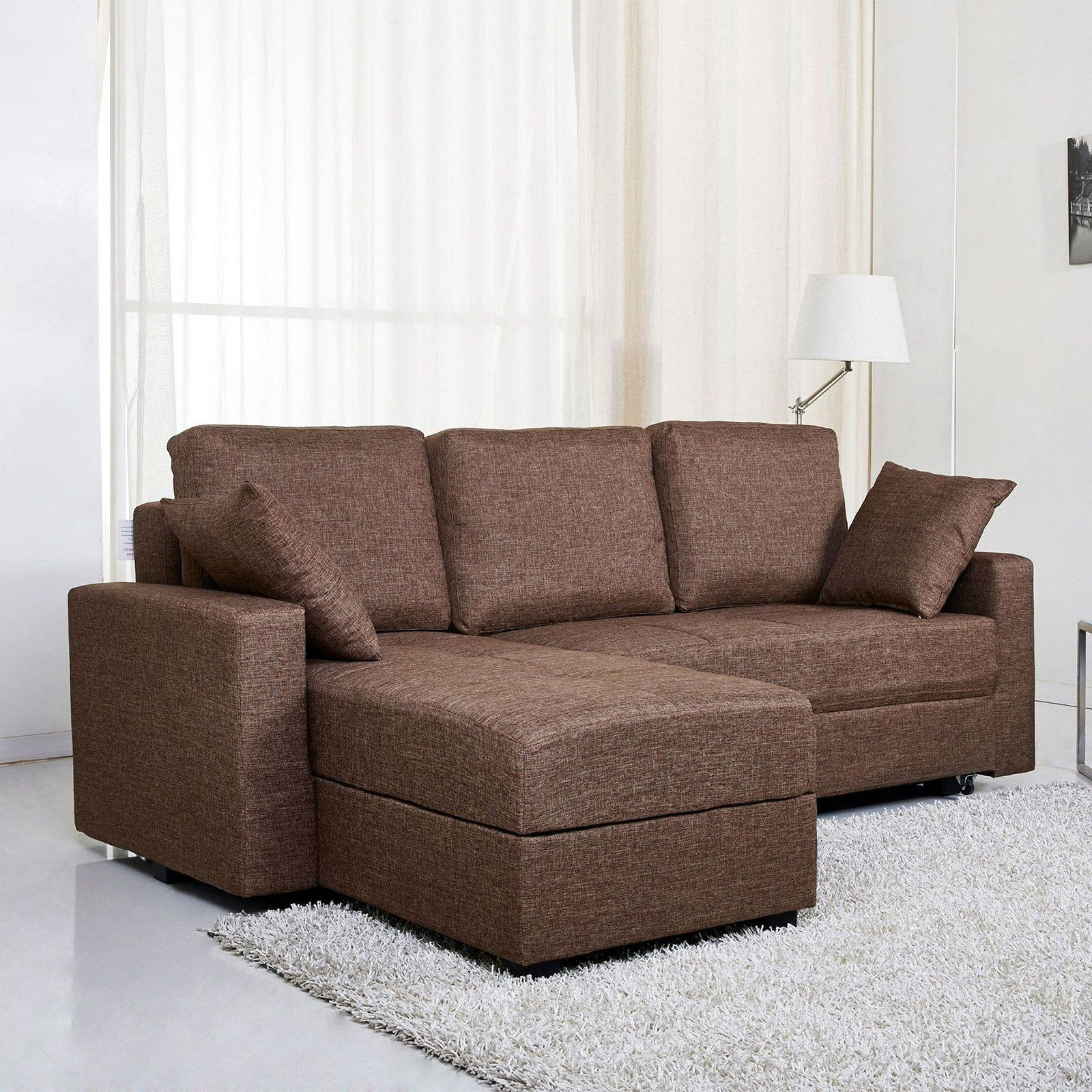 Gold Sparrow Aspen Fabric Convertible Storage Sectional Throughout Most Up To Date Live It Cozy Sectional Sofa Beds With Storage (View 10 of 25)