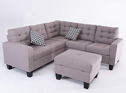 Good & Gracious Sectional Sofa Set, L Shaped Couch With Intended For Most Recent Palisades Reversible Small Space Sectional Sofas With Storage (View 8 of 25)