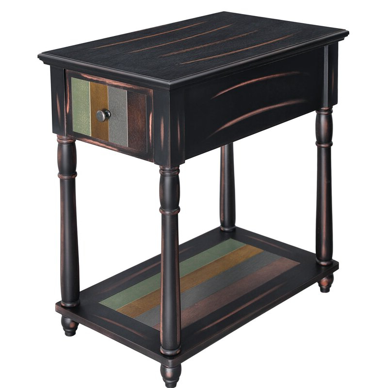 Gracie Chocolate Sofas Within Newest Gracie Oaks Narrow End Table With Drawer, 3 Tier (View 12 of 15)