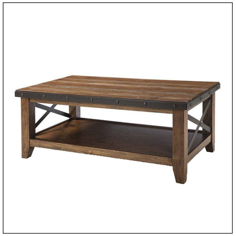 Gracie Oaks Taos Coffee Table – Multi Coloured Brown In Widely Used Gracie Chocolate Sofas (View 15 of 15)