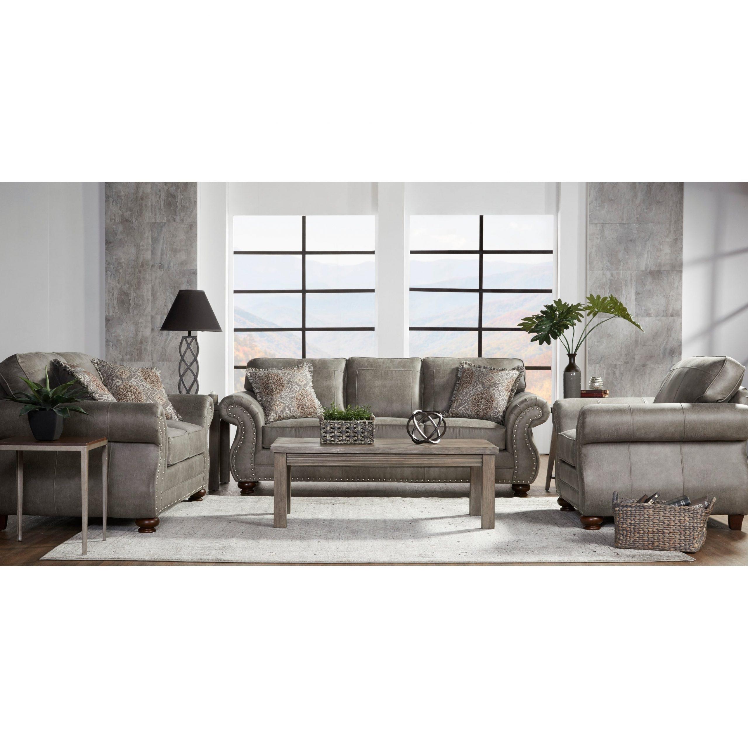 Gray Nailhead Sofa Set – Aleitmclarley Throughout Trendy Radcliff Nailhead Trim Sectional Sofas Gray (View 18 of 25)