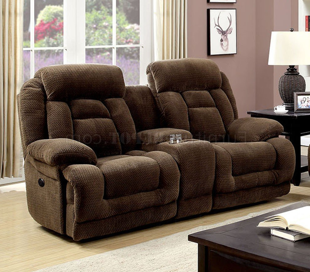 Grenville Power Reclining Sofa Cm6010Pm In Brown Fabric W With Regard To Most Up To Date Power Reclining Sofas (View 12 of 15)