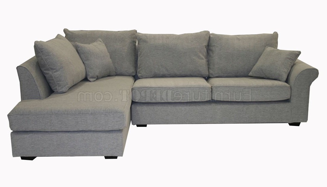 Grey Fabric Contemporary Sectional Sofa Throughout 2017 Noa Sectional Sofas With Ottoman Gray (View 18 of 25)