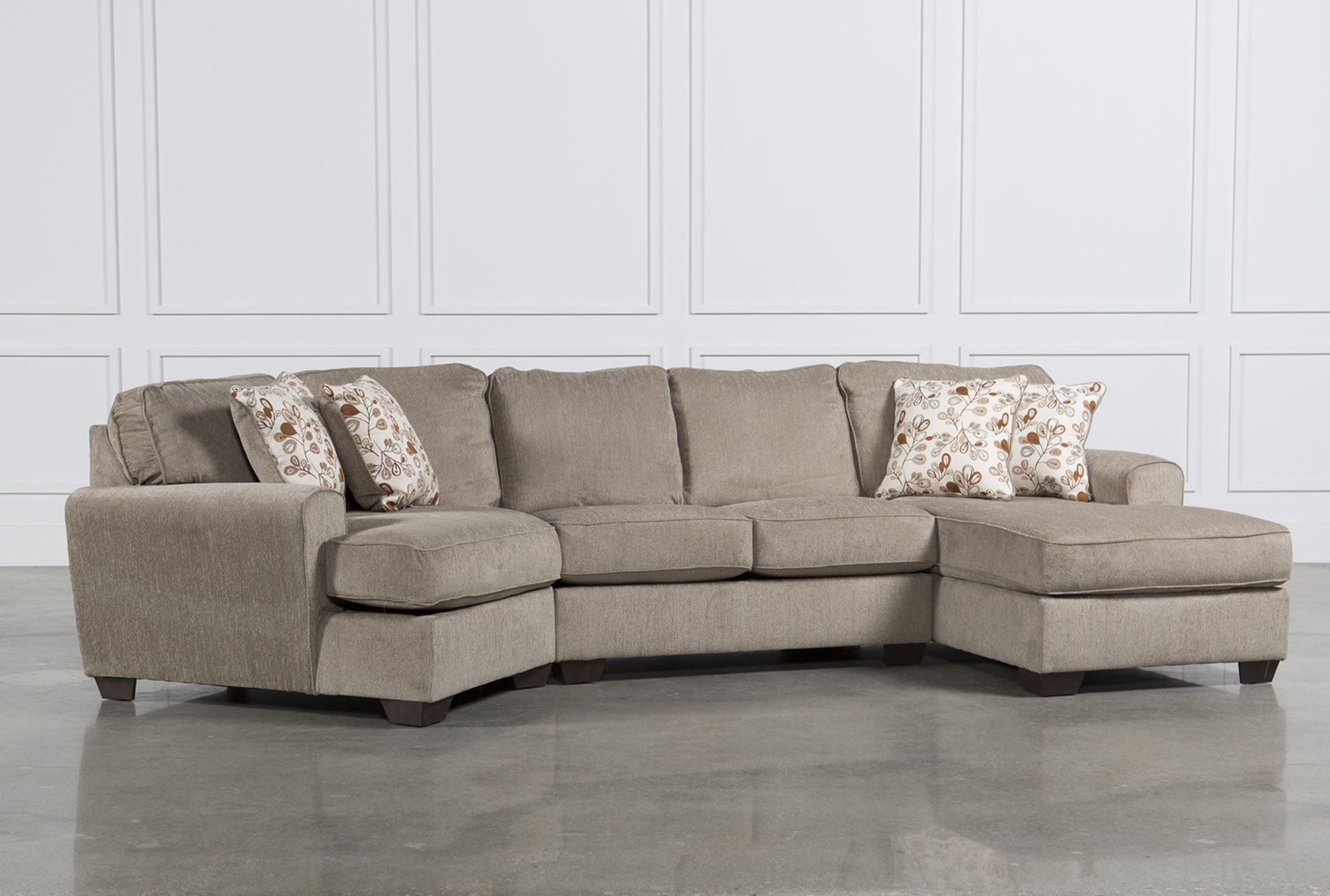 Hannah Right Sectional Sofas Intended For Most Recent Cuddler Sectional Sofa Carena 2 Pc Fabric Sectional Sofa (View 6 of 25)