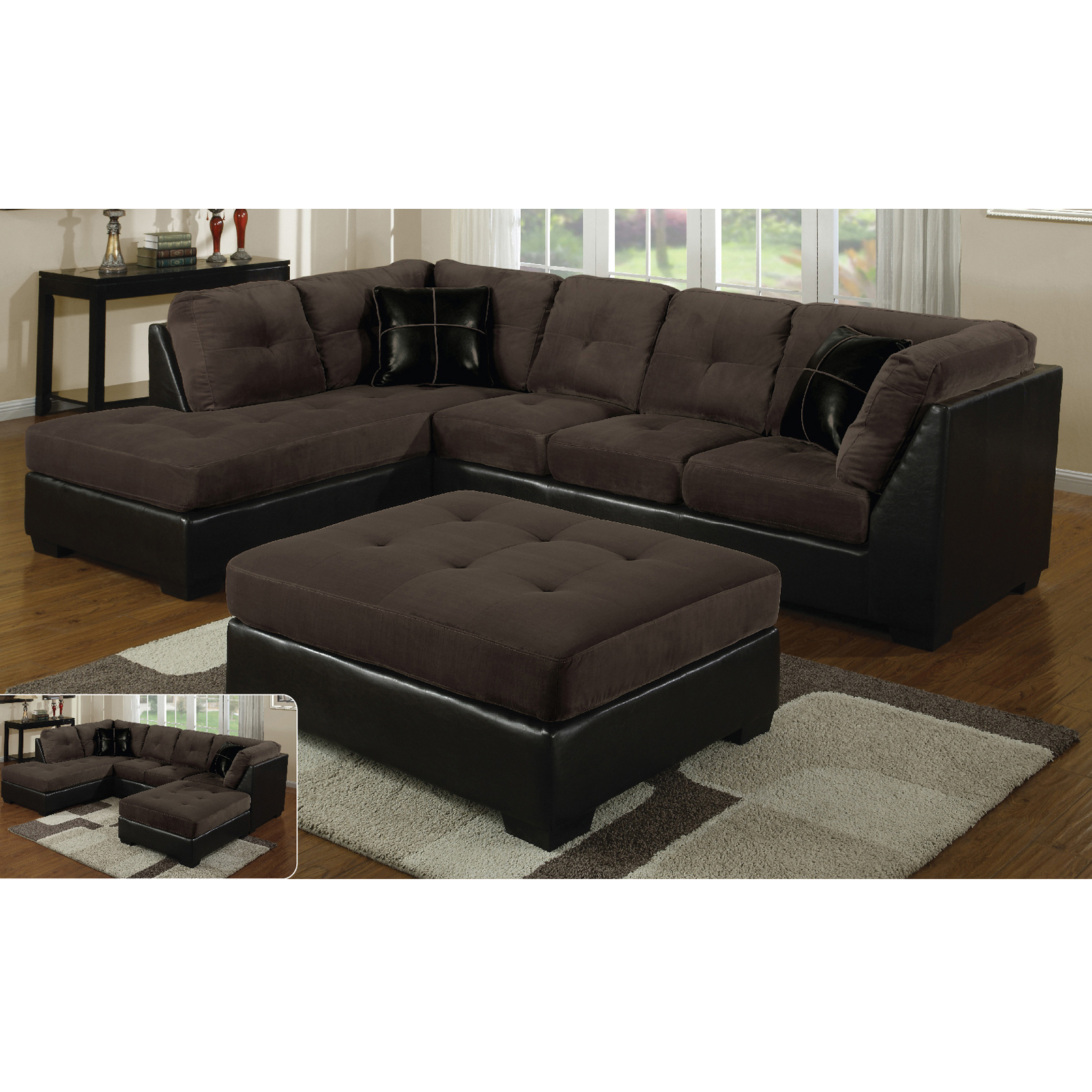 Hannah Right Sectional Sofas Throughout Widely Used E Motion Furniture Right Tufted Chaise Sectional (View 4 of 25)