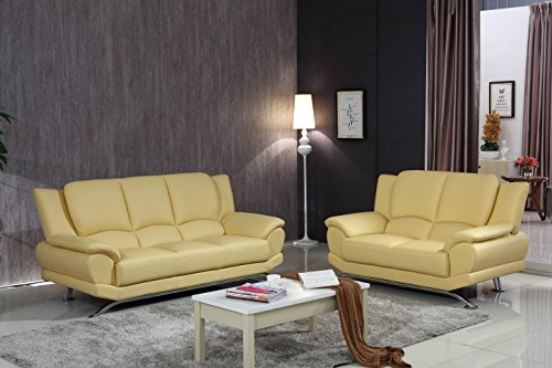 Harmon Roll Arm Sectional Sofas In Widely Used Matisse Milano Leather Sofa Set (Soft Yellow) – Artisan Sw (View 22 of 25)