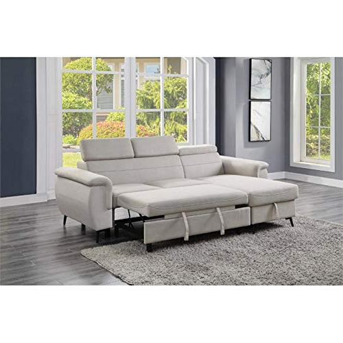 Harmon Roll Arm Sectional Sofas Inside Most Up To Date Lexicon Cadence Microfiber Reversible Sectional Sofa In (View 9 of 25)