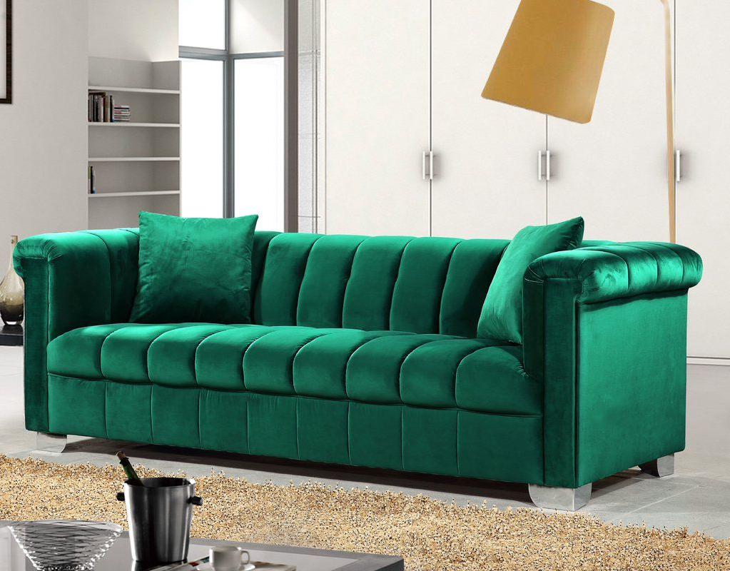 Harmon Roll Arm Sectional Sofas Throughout Well Known Henriette Chesterfield Sofa (View 3 of 25)