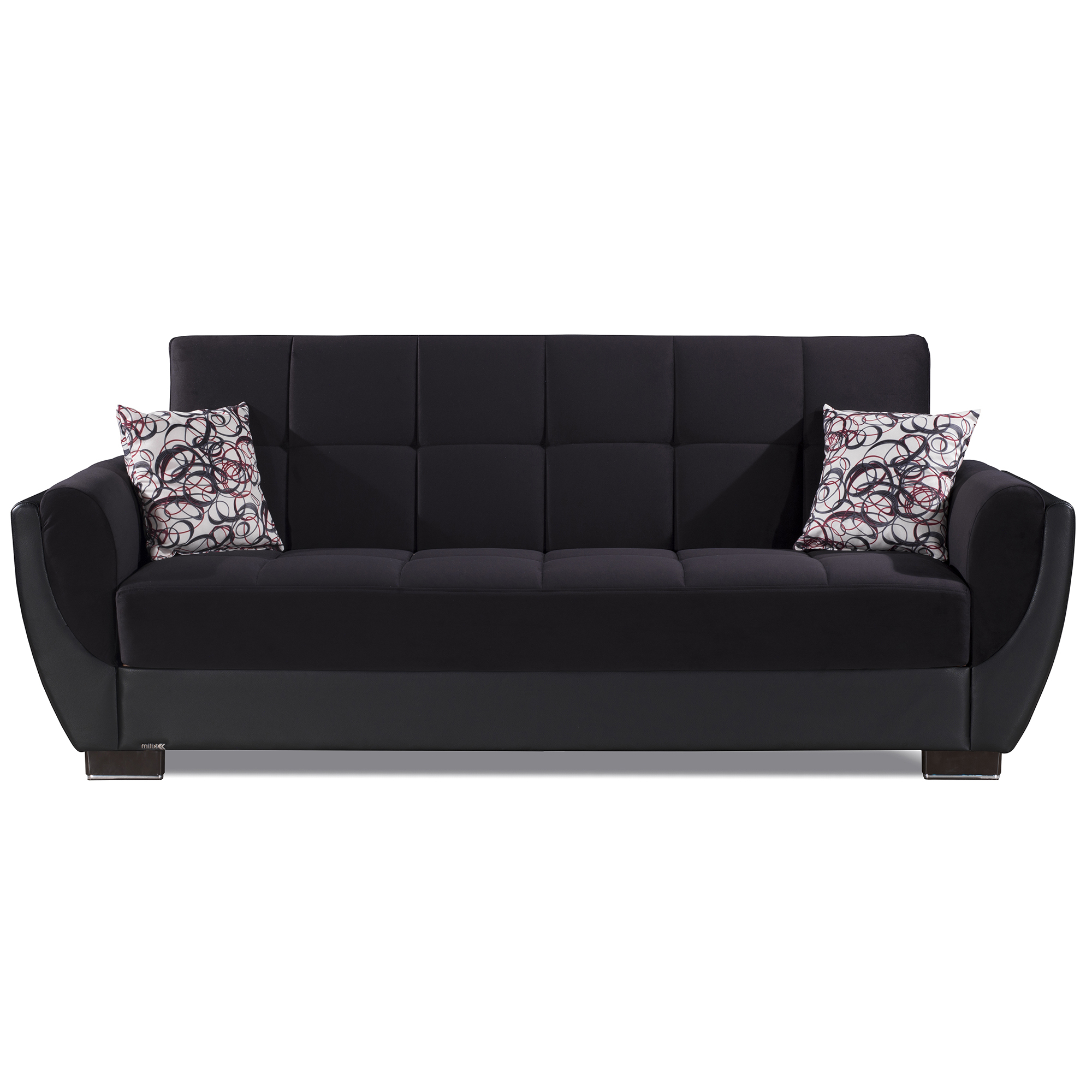 Hartford Storage Sectional Futon Sofas Intended For Most Up To Date Ottomanson Armada Air Fabric Upholstery Sleeper Sofa Bed (View 4 of 25)