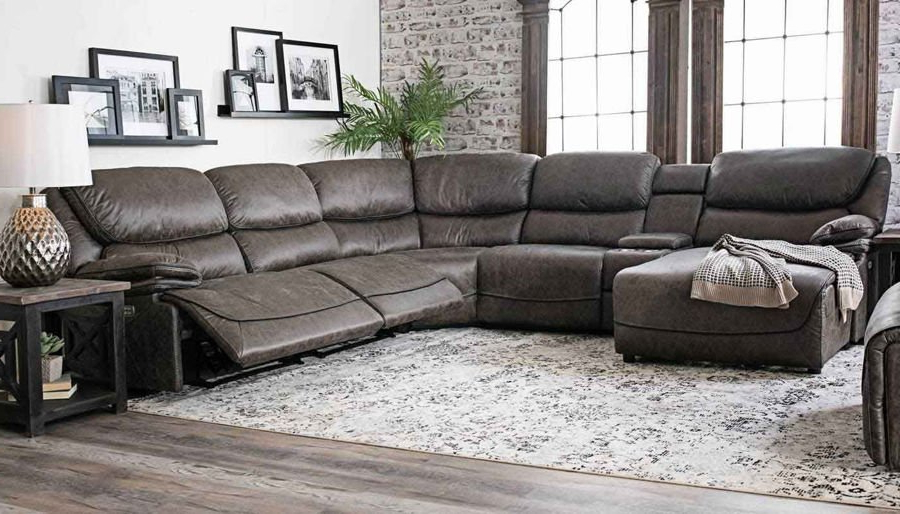 Home Zone Furniture With Pacifica Gray Power Reclining Sofas (View 2 of 15)