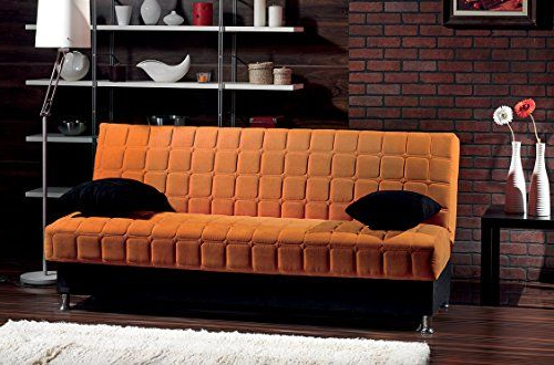 Hugo Chenille Upholstered Storage Sectional Futon Sofas For 2018 Beyan Rio Collection Upholstered Chenille Sofa Bed With (View 16 of 25)