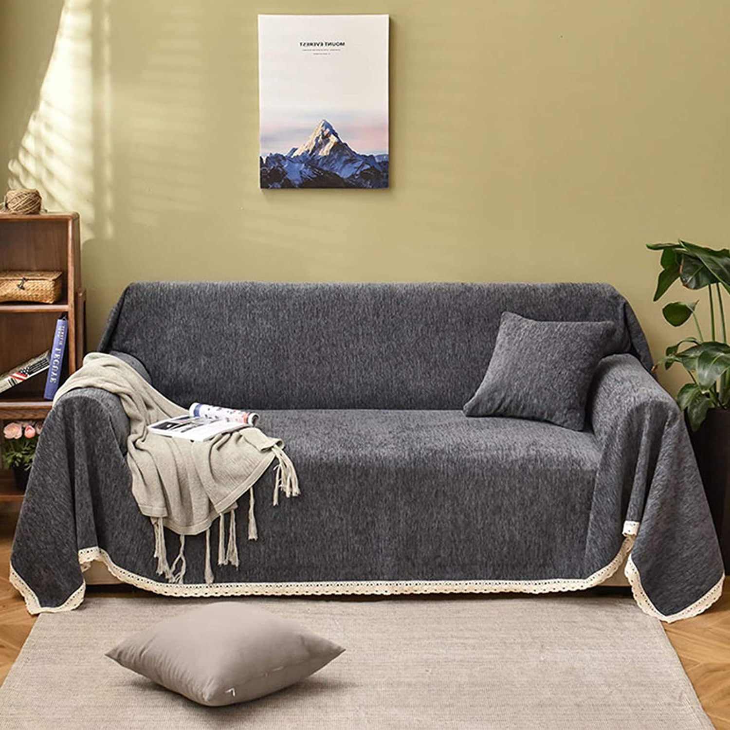 Hugo Chenille Upholstered Storage Sectional Futon Sofas Throughout Most Popular Amazon: Wjxboos 1 Piece Sofa Slipcover,Thick Chenille (View 22 of 25)