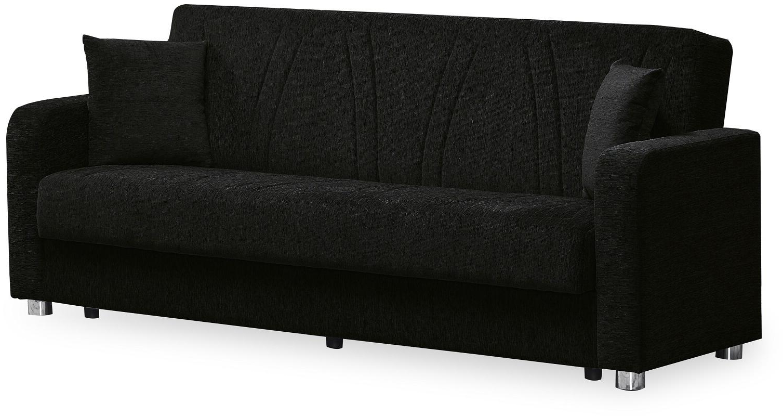 Hugo Chenille Upholstered Storage Sectional Futon Sofas With Latest Casamode Jokerelegancesofabedblack Joker Elegance Series (View 20 of 25)