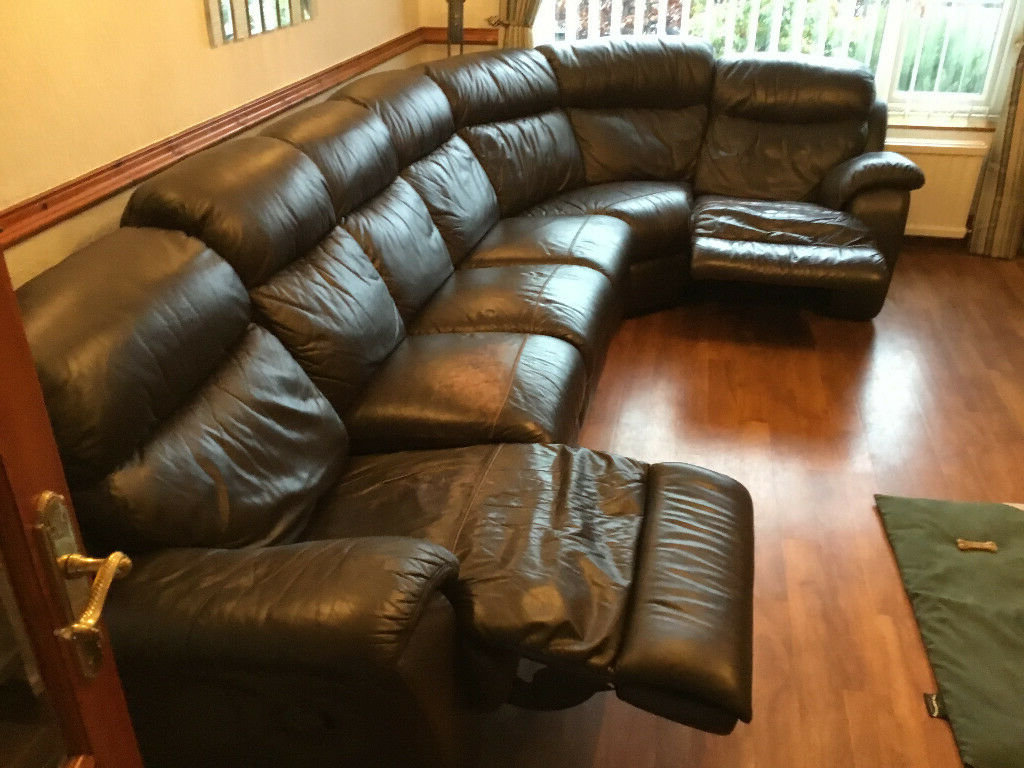 In Heald Green, Manchester For Bonded Leather All In One Sectional Sofas With Ottoman And 2 Pillows Brown (View 13 of 25)