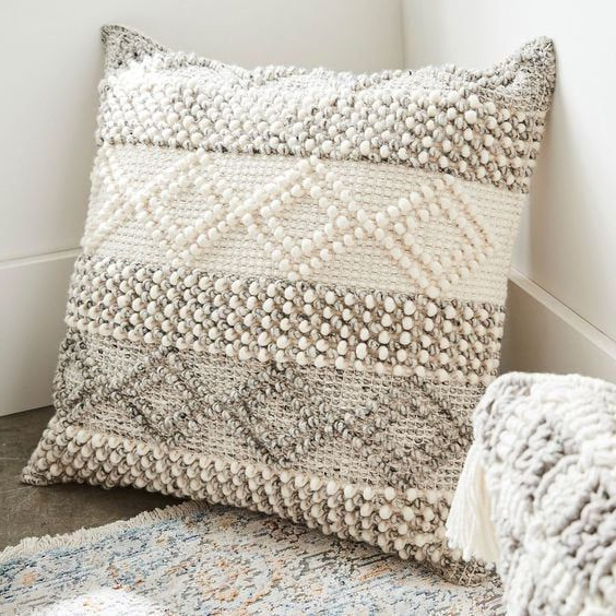 Indian Handwoven Pillow Cover 18 X 18 Cushion Cover In Most Popular Magnolia Sectional Sofas With Pillows (View 8 of 25)