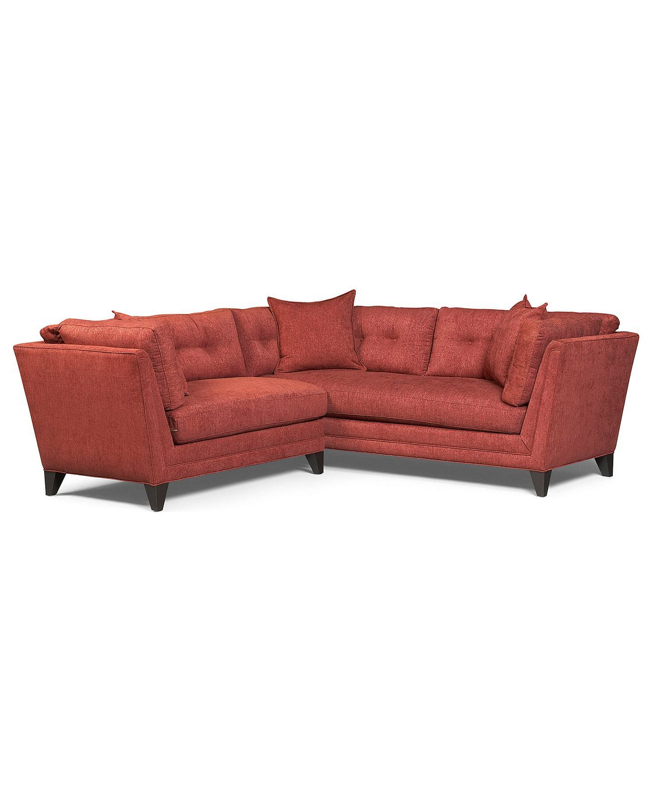 Irene Fabric Sectional Sofa, 2 Piece (1 Arm Sofa And 1 Arm Inside Current 2Pc Maddox Left Arm Facing Sectional Sofas With Chaise Brown (View 16 of 25)