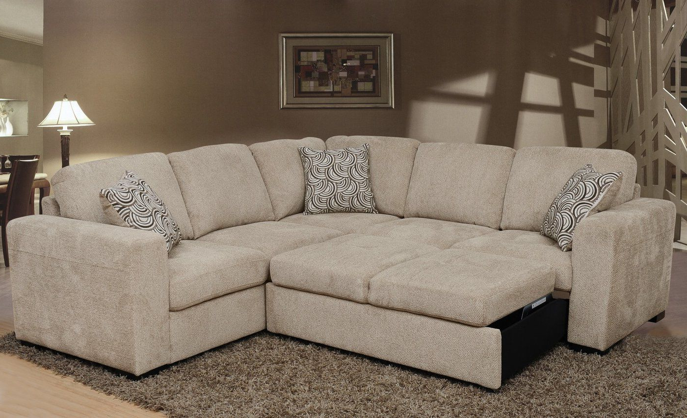 Izzy 2 Piece Chenille Sectional With Left Facing Sleeper Inside Fashionable Hugo Chenille Upholstered Storage Sectional Futon Sofas (View 6 of 25)
