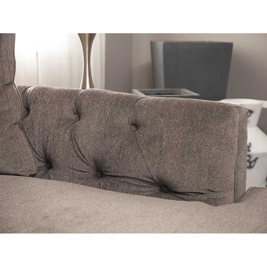 Juliana 3 Piece Sectional With Raf Chaise – Indy Best Pertaining To Recent 3Pc Polyfiber Sectional Sofas With Nail Head Trim Blue/Gray (View 3 of 25)