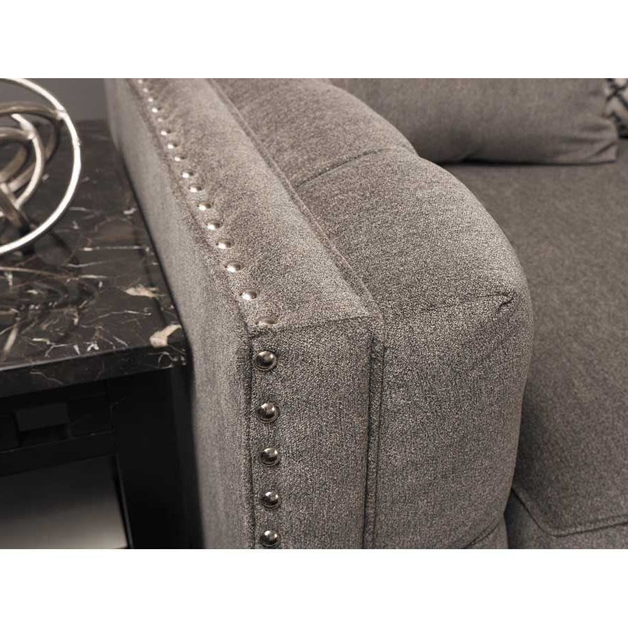 Juliana 3 Piece Sectional With Raf Chaise – Indy Best With Favorite 3Pc Polyfiber Sectional Sofas With Nail Head Trim Blue/Gray (View 17 of 25)