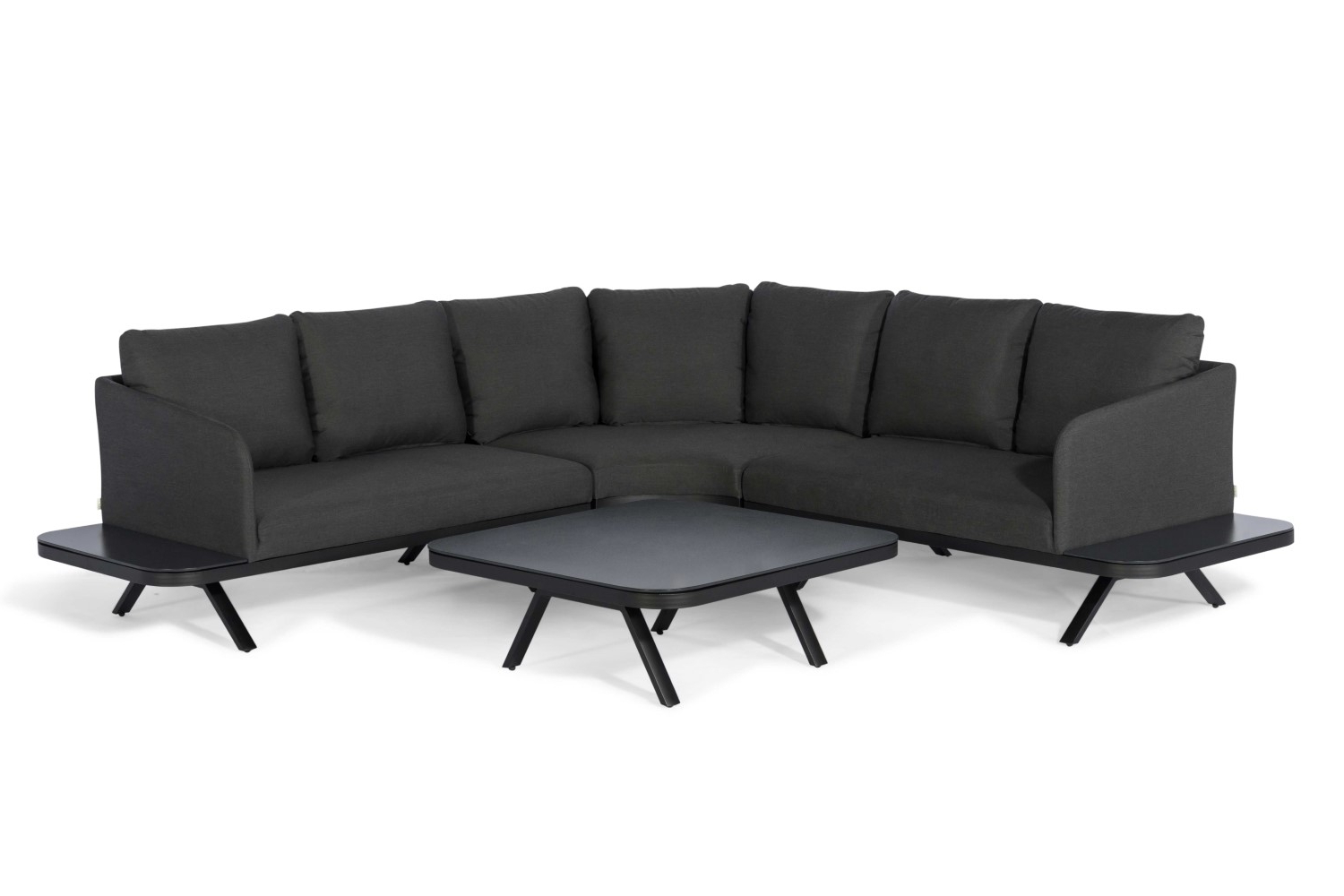 Katie Charcoal Sofas For Best And Newest Maze Rattan – Cove Corner Sofa Group – Charcoal – Ls Living (View 8 of 15)