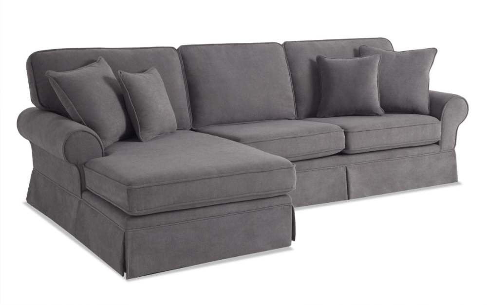 Katie Charcoal Sofas Throughout Preferred Katie Charcoal 2 Piece Left Arm Facing Sectional (View 2 of 15)