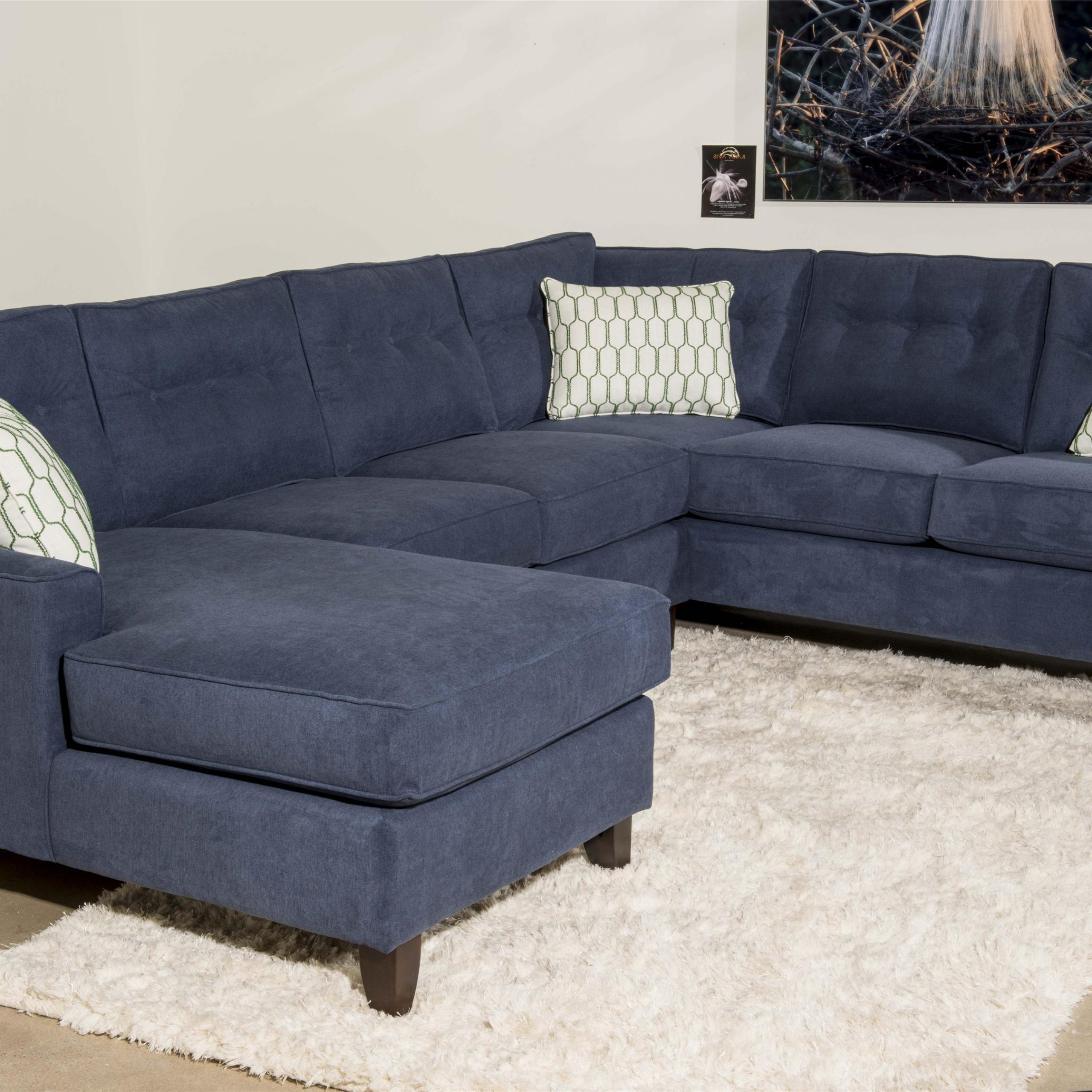 Klaussner Audrina K31600L Crns+Als+R Chase Contemporary 3 Within Favorite 3Pc Polyfiber Sectional Sofas (View 22 of 25)