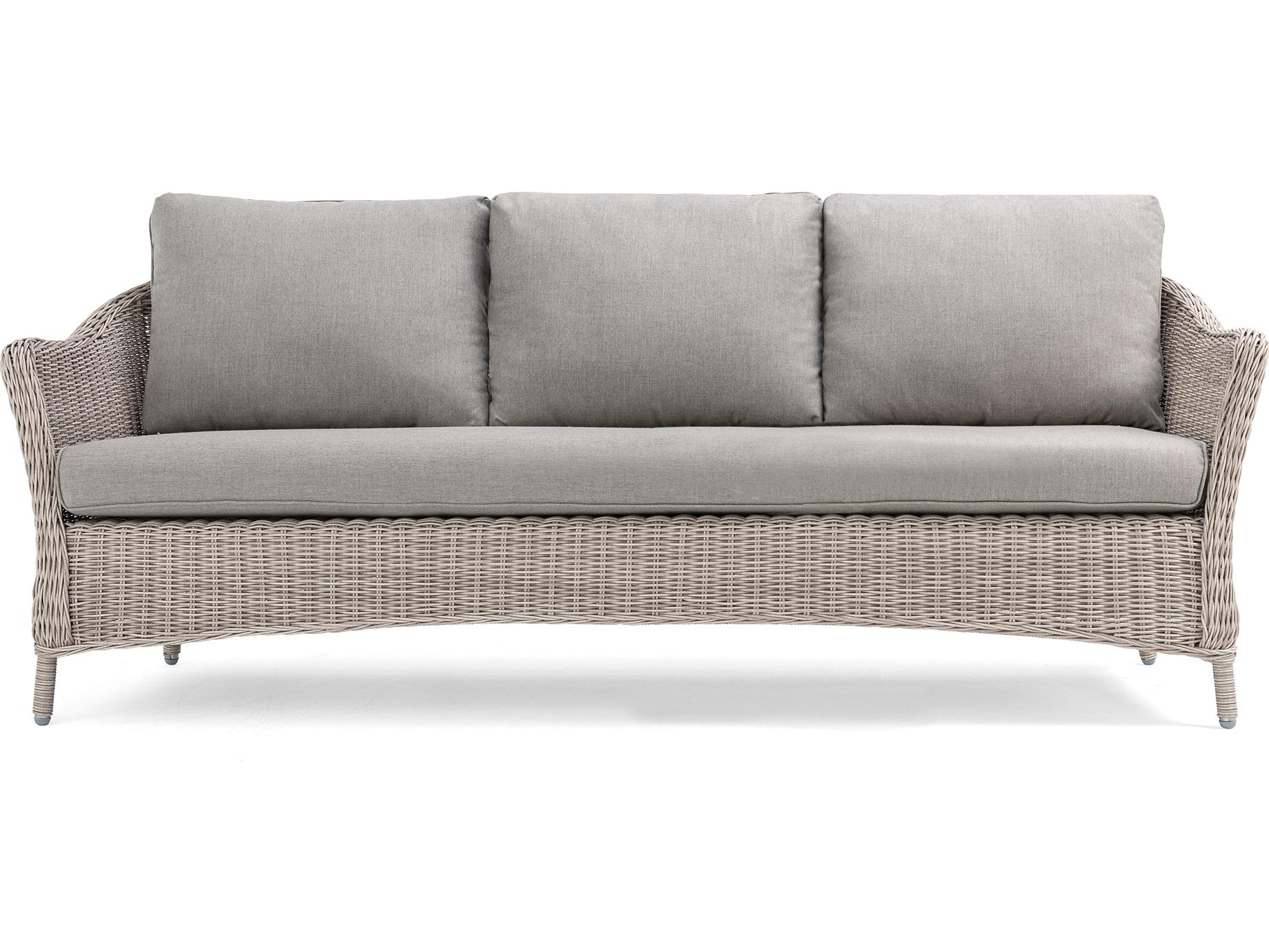 La Z Boy Quick Ship Laurel Cushion Gray Wicker Sofa In Within 2018 Laurel Gray Sofas (View 2 of 15)