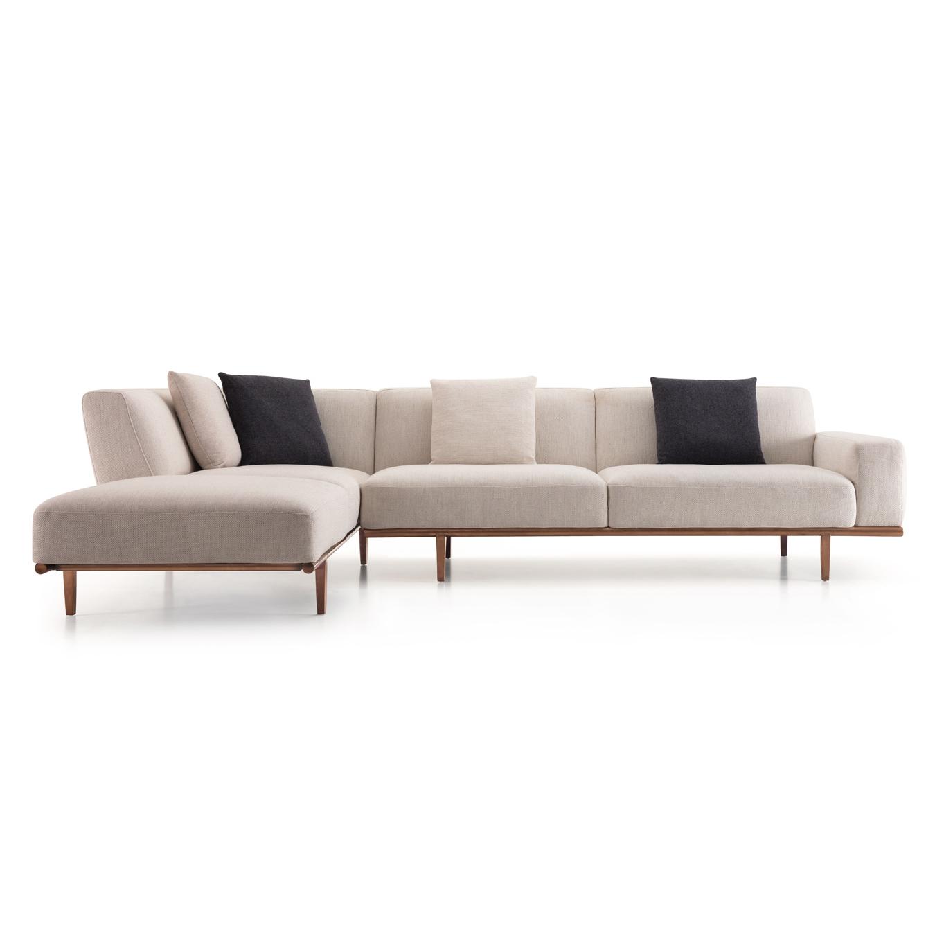 Latest Beige Sofas In Trento Corner Sofa Beige – Casa Lusso Furniture Uae (View 2 of 15)