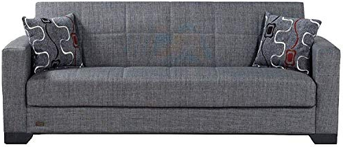 Latest Hugo Chenille Upholstered Storage Sectional Futon Sofas With Beyan Sb 2019 Smoke Vermont Modern Chenille Fabric (View 9 of 25)