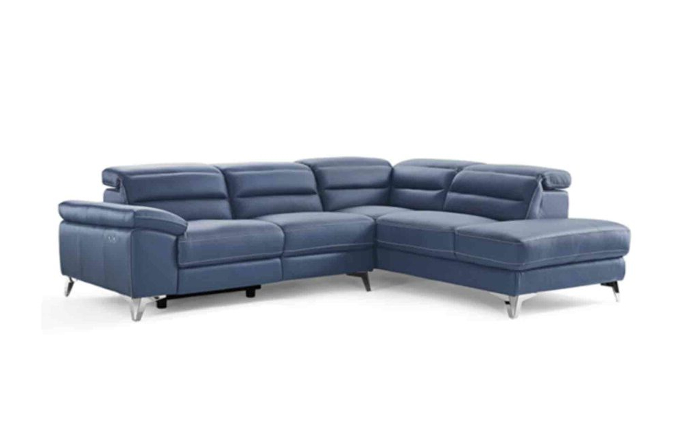 Latest Johnson Sectional Sofa Sl1349L Nvy Whiteline Sectional Intended For Bloutop Upholstered Sectional Sofas (View 21 of 25)