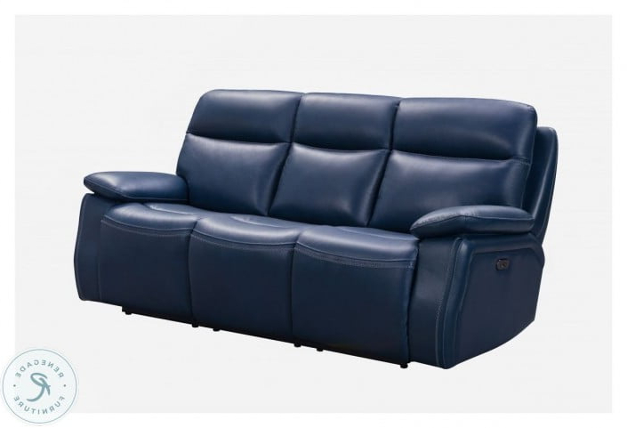 Latest Micah Marco Navy Blue Leather Match Power Reclining Sofa Throughout Marco Leather Power Reclining Sofas (View 1 of 15)
