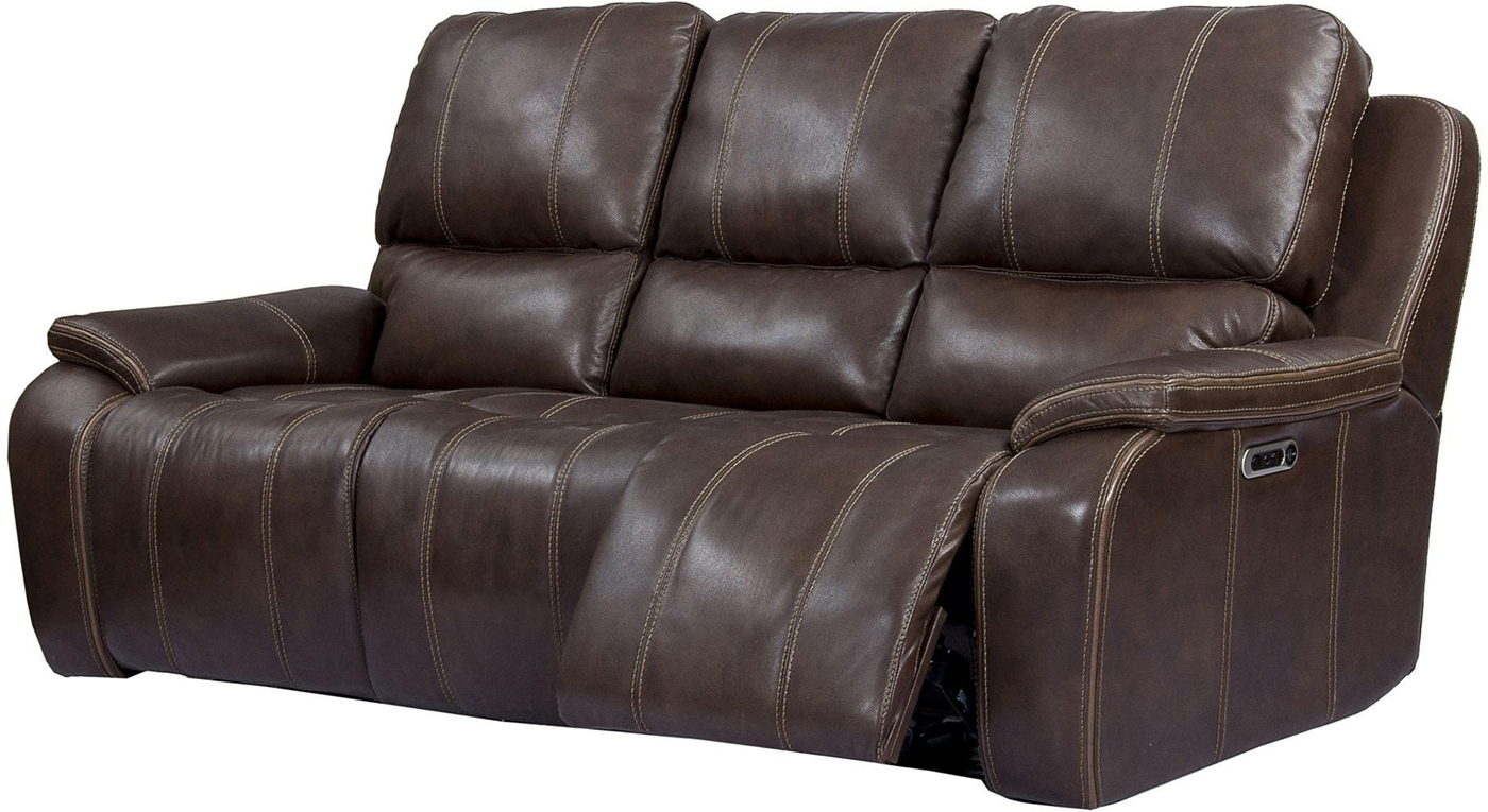 Latest Nolan Leather Power Reclining Sofas Intended For Potter Leather Power Dual Reclining Sofa With Usb Charging (View 12 of 15)