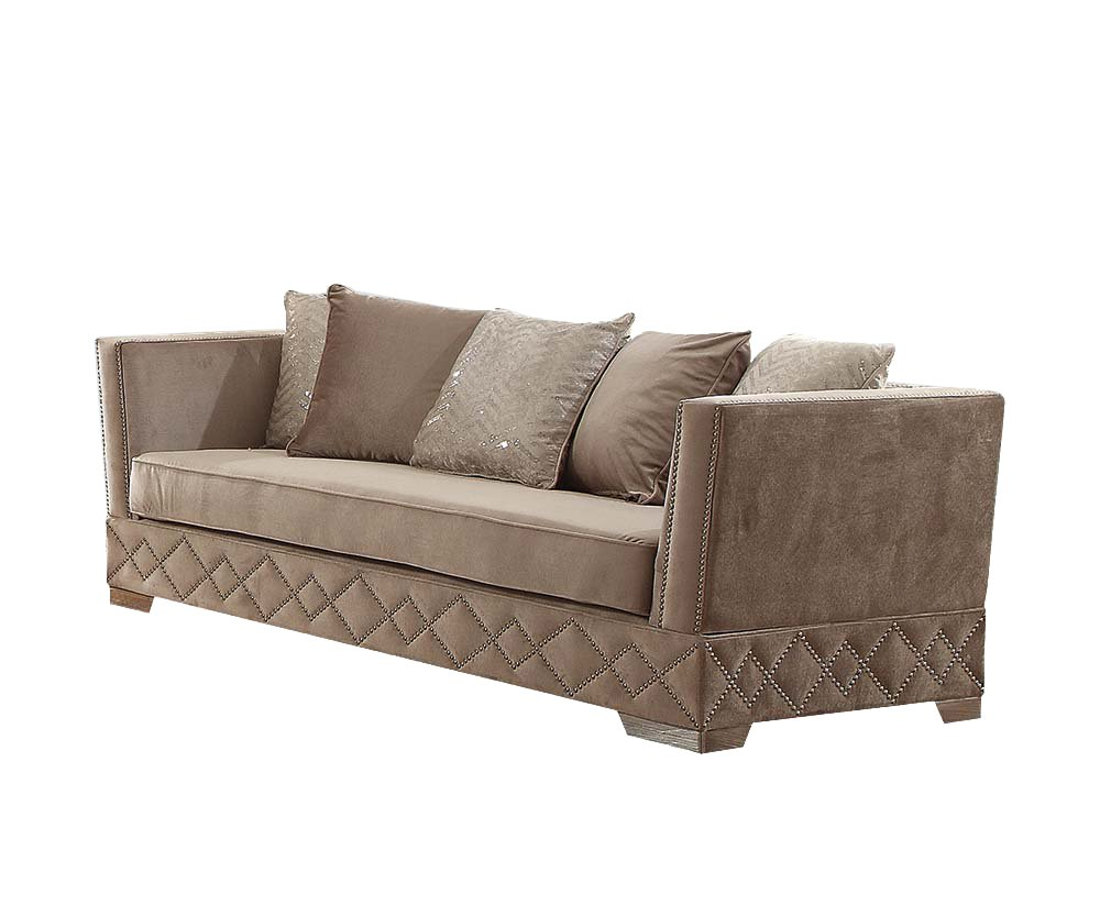 Latest Scarlett Beige Sofas With 10+ Best For Beige Velvet Sofa Bed – Carin Scat (View 4 of 15)