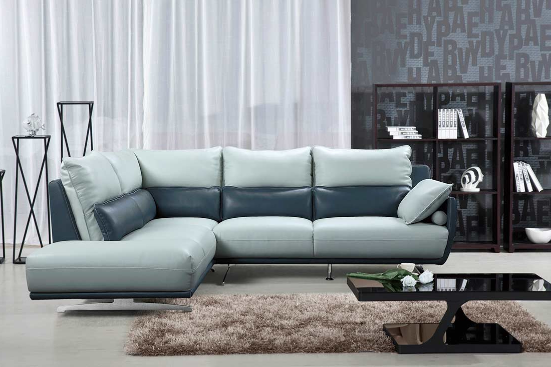 Leather Regarding Latest Ludovic Contemporary Sofas Light Gray (View 4 of 25)