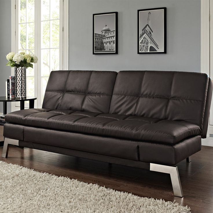 Leather Sofa Bed, Comfortable Pertaining To Hartford Storage Sectional Futon Sofas (View 8 of 25)
