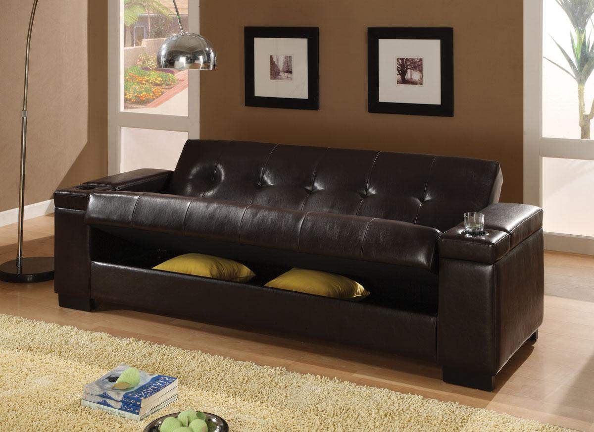 Liberty Sectional Futon Sofas With Storage For Recent Sofa Beds Faux Leather Convertible Sofa Sleeper With (View 17 of 25)