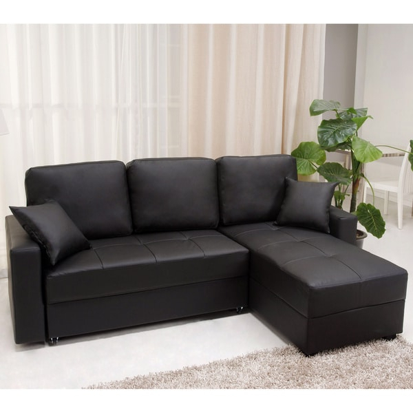 Liberty Sectional Futon Sofas With Storage Throughout Trendy Shop Aspen Black Convertible Sectional Storage Sofa Bed (View 13 of 25)