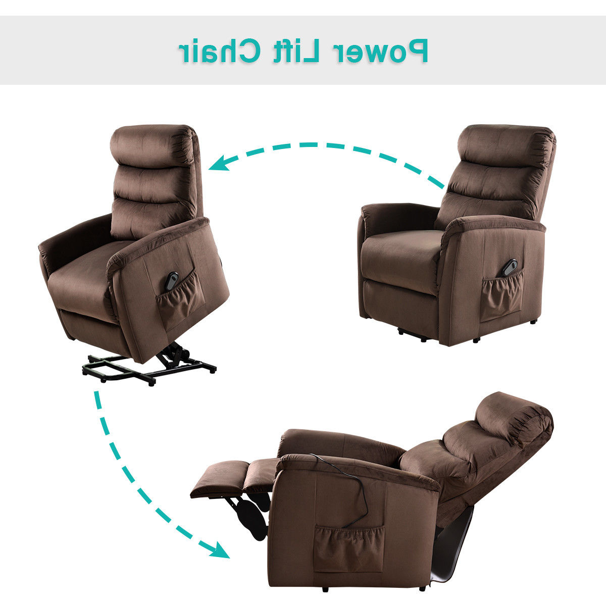 Lift Chairs Within Walker Gray Power Reclining Sofas (View 6 of 15)