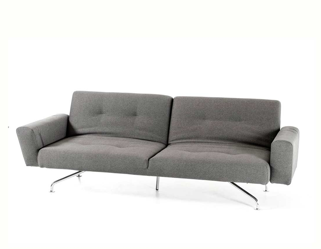 Light Grey Fabric Sofa Bed Vg (View 14 of 25)