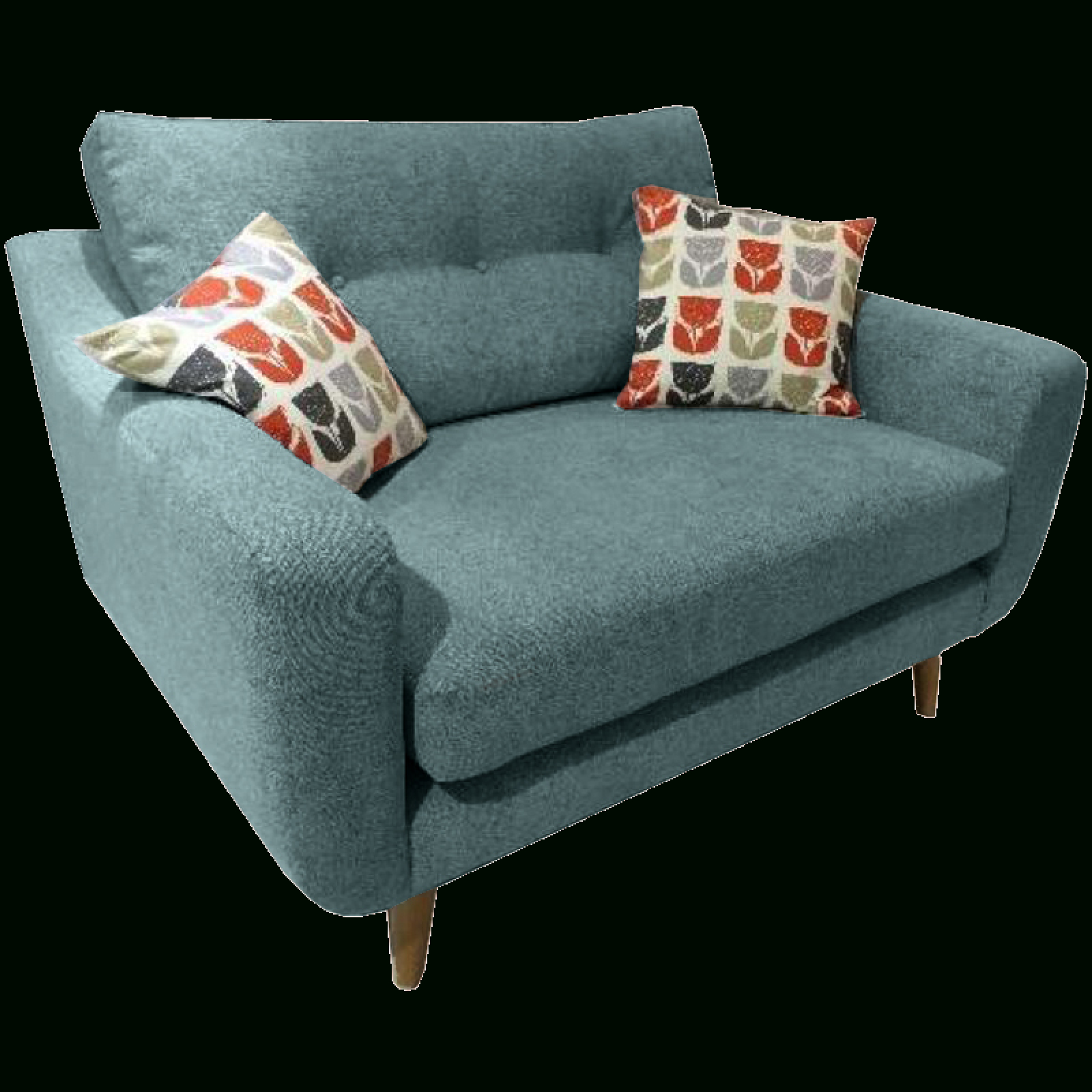 Lisbon Snuggler Sofa Chairwhitemeadow Inside Most Current 4Pc French Seamed Sectional Sofas Oblong Mustard (View 5 of 25)