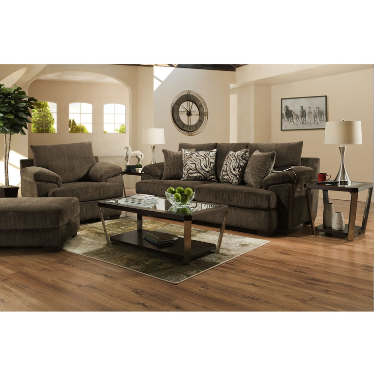 Living Room Sets With Regard To 3Pc Polyfiber Sectional Sofas With Nail Head Trim Blue/Gray (View 25 of 25)