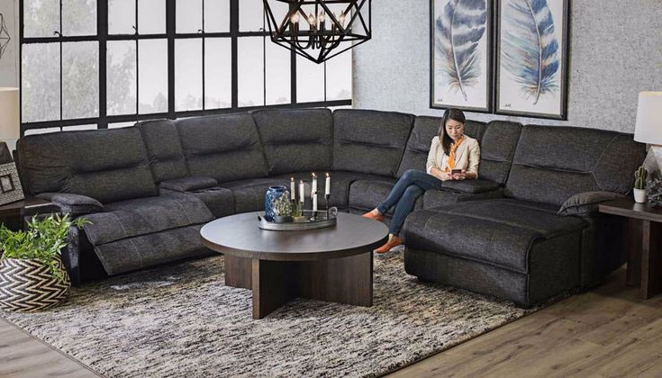 Living Room Sofa Within Pacifica Gray Power Reclining Sofas (View 11 of 15)