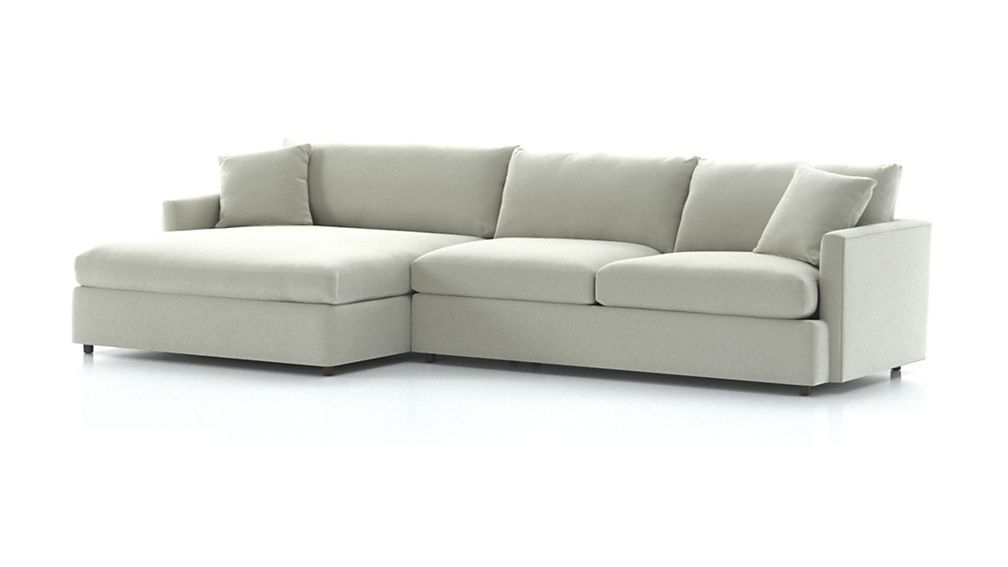 Lounge Petite 2 Piece Right Arm Double Chaise Sectional With Regard To Most Popular 2Pc Maddox Right Arm Facing Sectional Sofas With Chaise Brown (View 14 of 25)