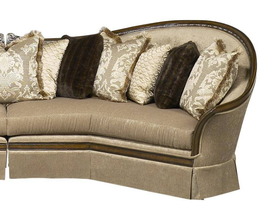 Luna Leather Sectional Sofas Inside Widely Used Benetti'S Luna Luxury Beige Sectional Sofa Brown Finish (View 11 of 25)