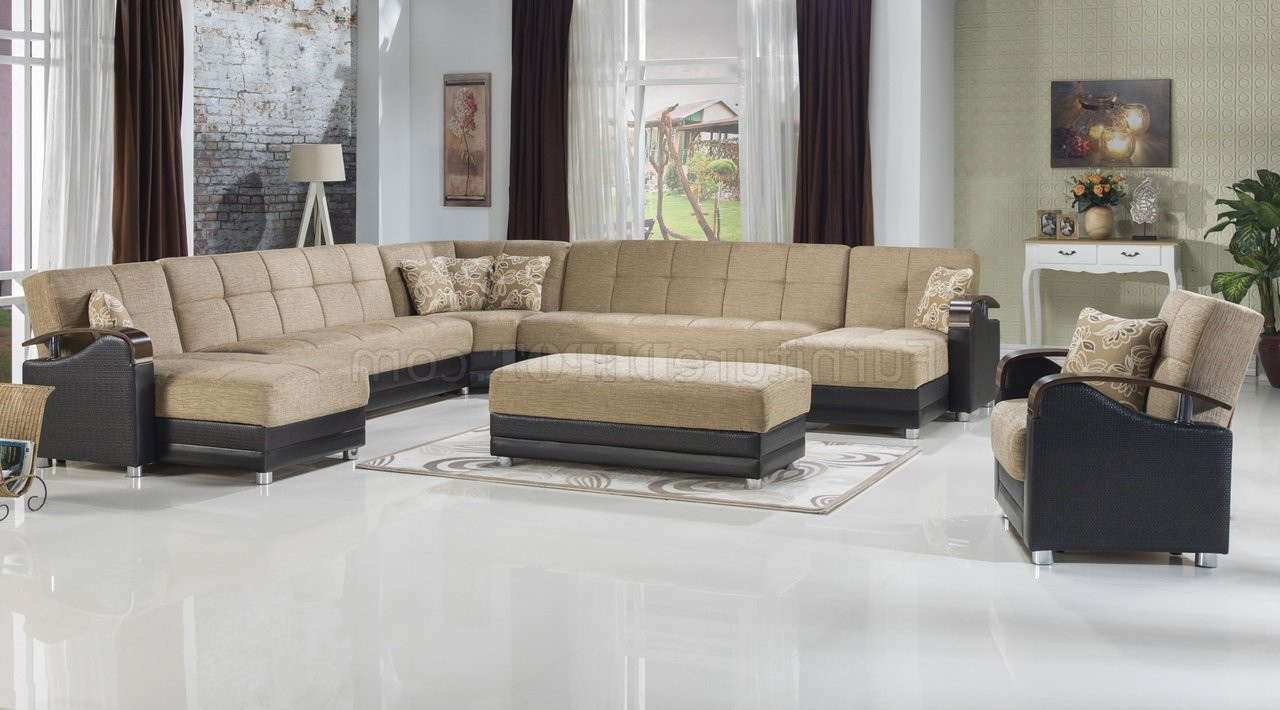 Luna Leather Sectional Sofas Within Recent Luna Fulya L (View 8 of 25)
