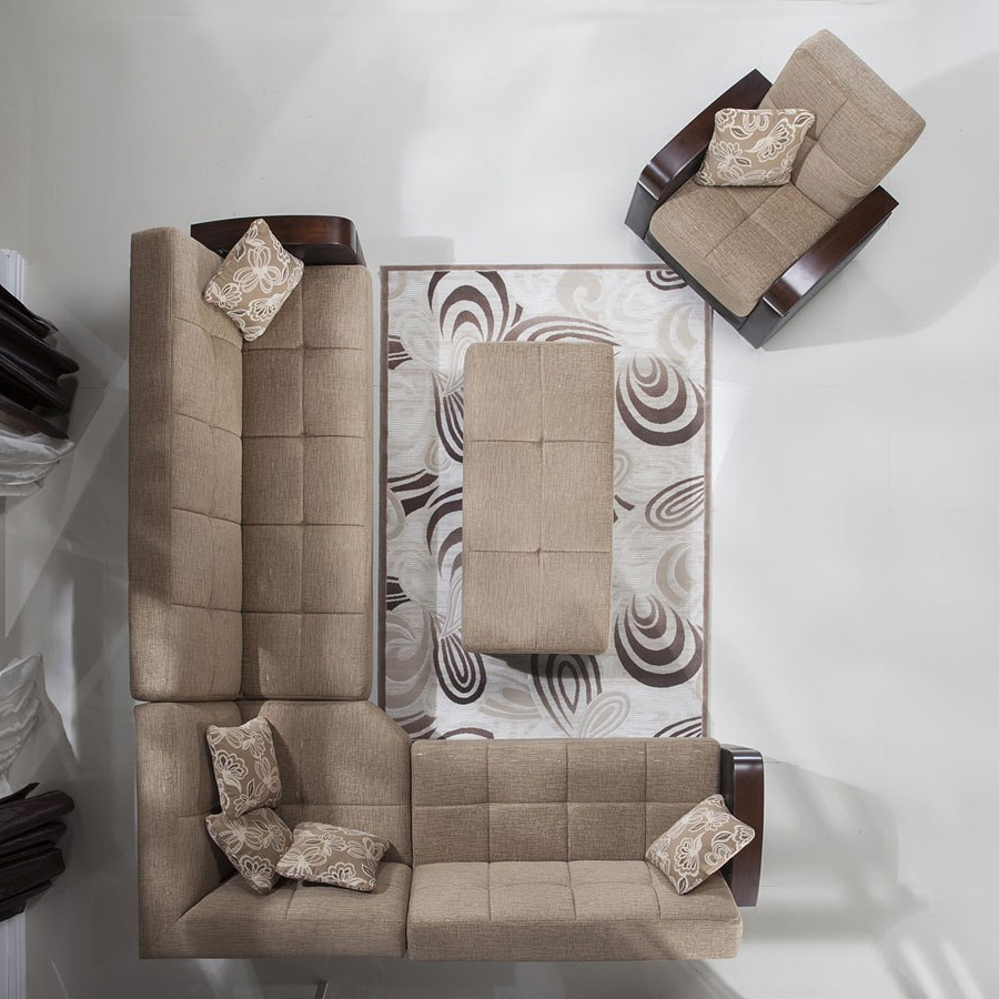 Luna Modular Sectional Set (Fulya Brown) Istikbal Inside Most Current Luna Leather Sectional Sofas (View 16 of 25)