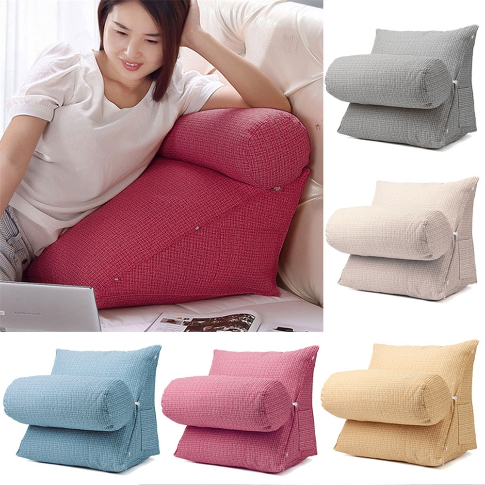 Lyvia Pillowback Sofa Sectional Sofas In Most Current Adjustable Sofa Back Wedge Cushion Lumbar Support Pillow (View 24 of 25)